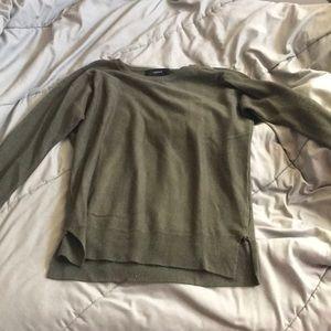 Army green sweater